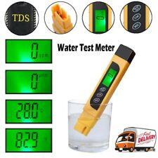 Water Quality Test Meter Digital Tool TDS & EC Temperature 0-9999ppm Measurement