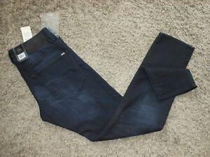 Mens G-Star Raw 3301 Slim Siro Black Stretch Denim DK Aged Jeans - Size 32x32