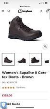 Berghaus Women's Supalite II Gore-tex Boots - Brown Size 8 BNIB