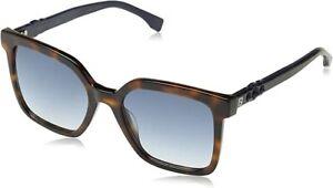 FENDI FF0269/S Ladies Square Sunglasses in Dark Havana & Case