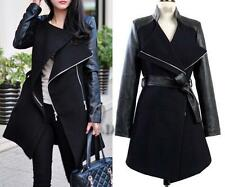 Women's Leather Solid Basic Coats