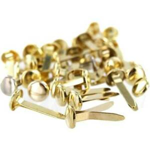 Pack of Split Pins Paper Fasteners 20mm Office Stationery Arts Crafts (Gold)