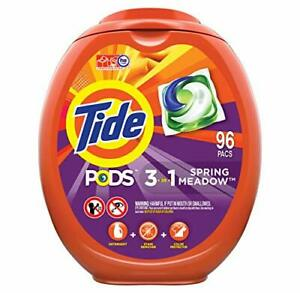 Tide PODS Laundry Detergent Liquid Pacs, Spring Meadow Scent, HE Compatible,...