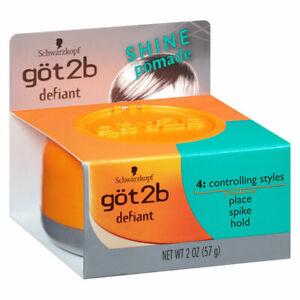 Schwarzkopf Got2b Defiant & Shine Pomade - 2 oz 57g