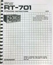 Pioneer Tape Deck Model CT-701 Owners Manual