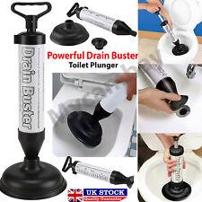Powerful Drain Buster Plunger Toilet Unblocker Plumbing Sink Remover Sucker UK