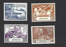 ANTIGUA 1949 75th ANNIVERSARY OF U.P.U SET OF 4 STAMPS, SG. 114 - 117, MH