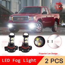5202 H16 LED Front Fog Light Bulb for GMC Sierra 1500 2008-2015 6000K White 100W