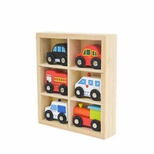 Mini Timber Car Set of 6 in Timber Display Box Imaginative Play