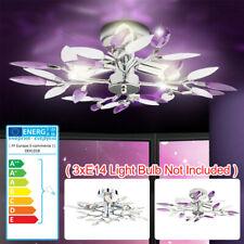Deckenleuchte Kristallblätter Design LED Deckenlampe Kronleuchter Wohnzimmer