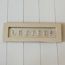 'LETTERS' Large Letterplate in Polished Nickel