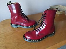 Vintage Dr Martens 1490 Cherry red boots UK 7 EU 41 ENGLAND skin punk kawaii