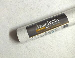 Anaglypta 10M Roll Reinforced Woodchip Wallpaper Textured PASTE THE WALL