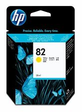 HP 82 CH568A CARTUCCIA GIALLO ORIGINALE X DesignJet 510 28ml SCAD 07/2013