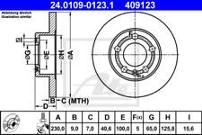 2x Bremsscheibe für Bremsanlage Hinterachse ATE 24.0109-0123.1