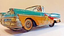 Vintage ** 1960's Ford Fairlane Tin Toy Merry Duck Car ~ ALPS ~ Made in Japan