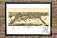 Old Map of Duluth, MN from 1887 - Vintage Minnesota Art, Historic Decor
