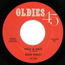 """EDDIE HARRIS 45:  """"Half & Half / K.C. Blues""""  Jazz Inst  Oldies 45 Reissue  Ex"""