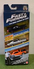 MATTEL 1:55th SCALE DIE-CAST FAST & FURIOUS 3 PACK DODGE MAXIMUS 1970 PLYMOUTH
