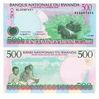 Pick 26 Ruanda  / Rwanda 500 Francs 1998  Unc. 5620578vvv.