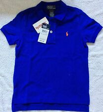 Boys Ralph Lauren Blue Polo Shirt Top Age 4 Years 5 6 8 13-14 16-17 4 Years