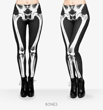 LEGGINGS MUJER X-RAY SKELETON ESQUELETO HUESOS BONES BLACK WHITE WOMEN LEGGINS