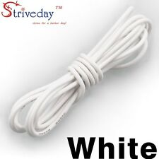 1 meters White 30AWG Flexible Silicone Wire Outer Diameter 1.2mm DIY Cable line