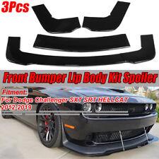 For 2012-2019 Dodge Challenger SXT SRT HELLCAT Front Bumper Spoiler Splitter Lip
