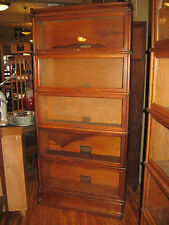 WE SHIP! Oak Globe Wernicke 5 High Stack Barrister Bookcase Arts & Crafts