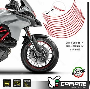 """Adhesives Rims Motorcycle Wheels DUCATI Multistrada 950s 17 """" And 19 """" Inches"""