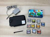 Nintendo DSi Bundle Blue 11 Games Case Mario Skin Charger Mario 64 DS