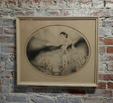 Louis Icart -Lady of the Camelias- Original Signed Etching -c1927