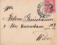 Briefumschlag Jahr 1908 verschickt von Triest nach Wien