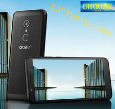 "New Unlocked Telstra 1C Alcatel 5009A 5.3"" 18:9 16GB Qaud Core 3G 8MP/5MP Black"