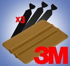 3M Vinyl Wrap Gold Applicator Squeegee 3X Felt Edge Tips