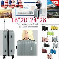 "4SET Luggage Set ABS Trolley Suitcase 360° Spinner Wheels Lock 16""20'' 24"" 28''"