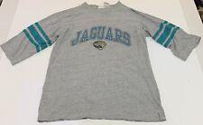 Jacksonville Jaguars Football Mens L T-shirt 3/4 Sleeve 2000 Vtg NFL