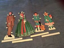 1998 Shackman Paper Dolls Victorian Family, Father,Mother,Brother And Sister.