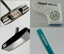 "YAMADA GOLF PUTTER Stick of Life for LEFT 33"",34"",35"" Rubber Grip + Cover Japan"