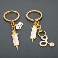 Miss Zoe Metal Syringe Stethoscope Keychain Key Chain Keyring Doctor Nurse G N_N