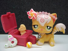 LITTLEST PET SHOP ORANGE ANGORA KITTY CAT #511 HEADBAND SUCKER ACCESSORIES