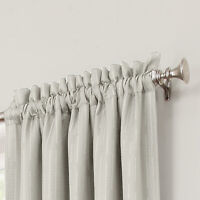 "Allen Roth Earnley Cirrus Cream Rod Pocket Blackout Curtain Panel 42""x84""  41482"