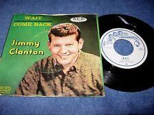 JIMMY CLANTON ~ COME BACK / WAIT (45 w/ PS) ACE 600 ~ VG+