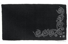"""Western Saddle Blanket - Black Wool - Designer Silver Dots - Size 34""""x38"""""""