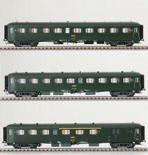 LS Models H0 40199 Set 3x SNCF PersonenWag Express Nord 1.+2.Kl. grün Ep4a NEU