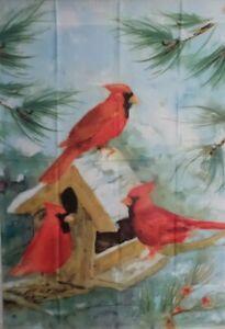 Cardinal Feeder Standard House Flag by Breeze Art #8610. Last one!