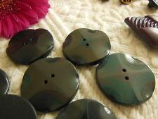 lot 6 gros boutons vintage gris bleu violet lumineux 2,7 cm ref 2750