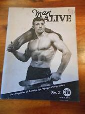 MAN ALIVE #3 muscle bodybuilding gay interest magazine/BRYAN KING 1-59