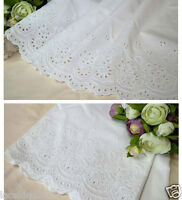 "2027 1.5/"" Cream Embroidery Anglaise Lace Trim £6.99 For 5 Metres Special Price"