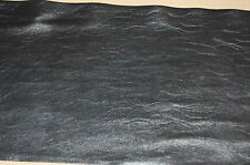 """9"""" Black Pleather Faux Leather Vinyl Upholstery By the Yard"""